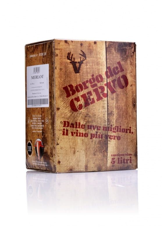 Wine Food Market Borgo del Cervo Merlot IGT bag in box
