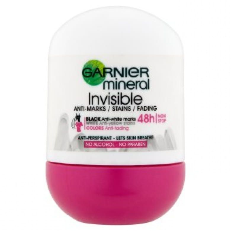 Garnier Mineral Invisible Black White Colors Roll-on minerální deodorant
