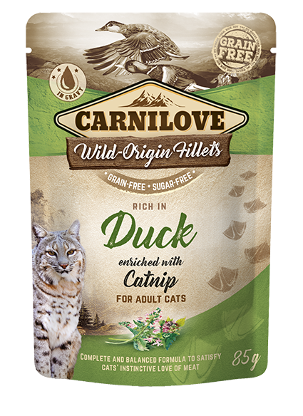 Carnilove Cat Pouch Rich in Duck Enriched with Catnip