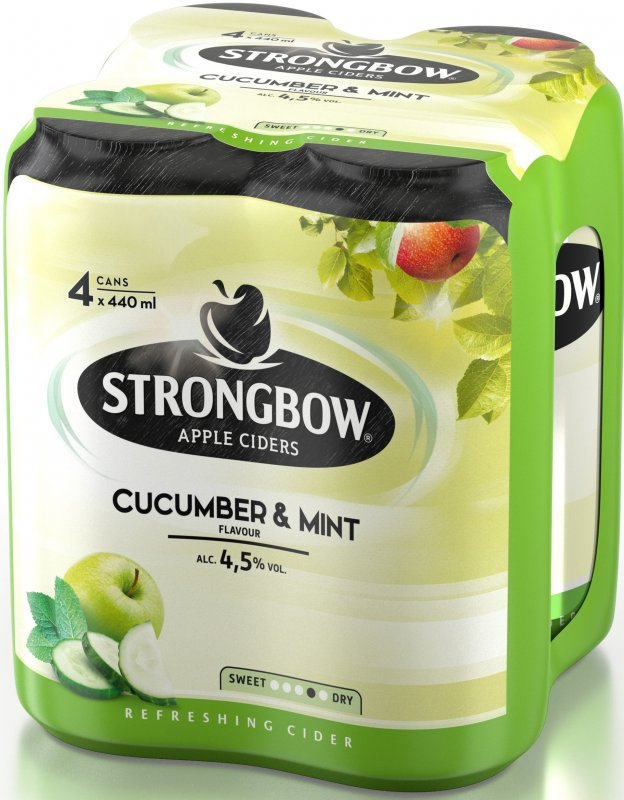 Strongbow Cucumber & Mint cider, plech multipack 4x440ml