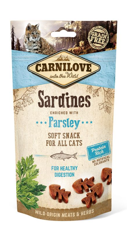Carnilove Grain-Free Cat Semi Moist Snack Sardine enriched with Parsley