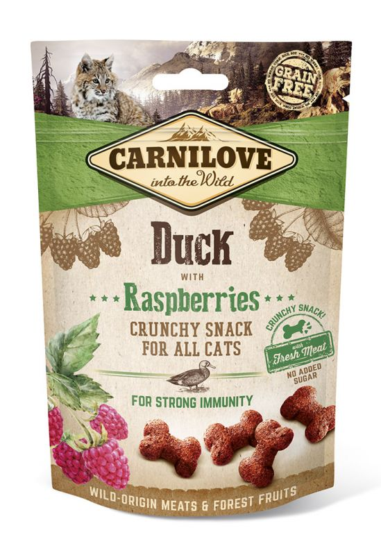Carnilove Grain-Free Cat Crunchy Snack Duck with Raspberries with fresh meat