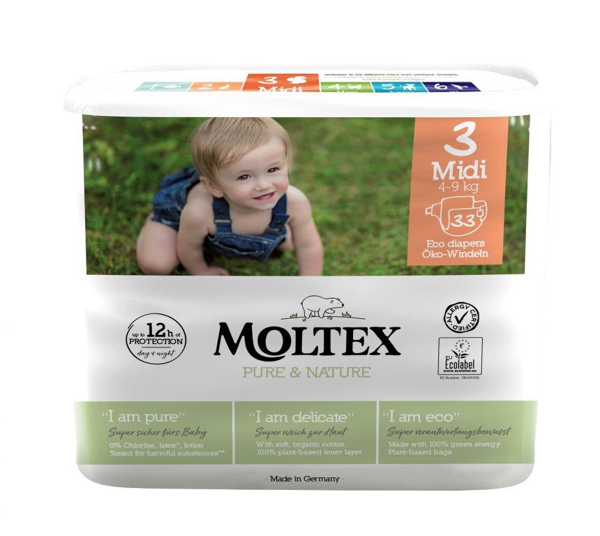 Moltex Eko Plenky Pure & Nature Midi (4-9 kg)