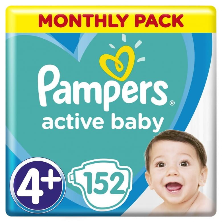 Pampers Active Baby Velikost 4+ (10-15kg)