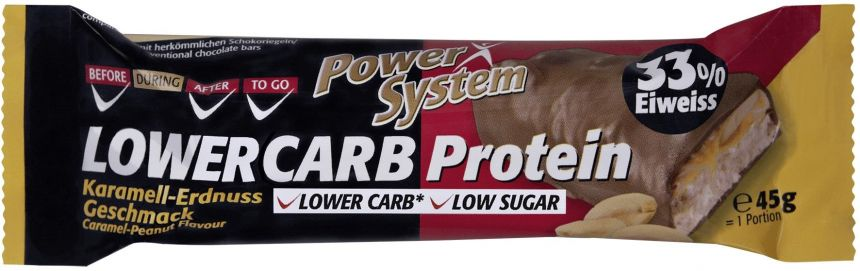 Power System Lower Carb Protein Bar 33% Caramel-Peanut