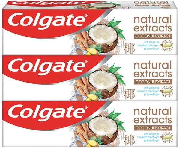 Colgate Natural Extracts Coconut & Ginger zubní pasta 3x75ml