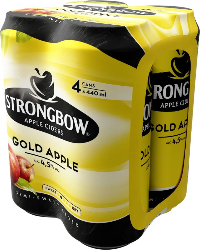 Strongbow Gold Apple, plech multipack 4x440ml