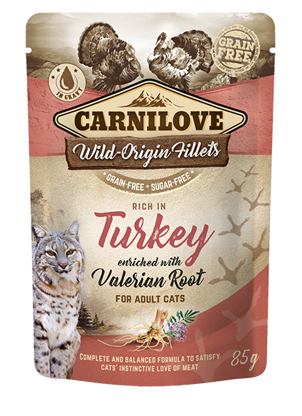 Carnilove Cat Pouch Rich in Turkey Enriched with Valerian