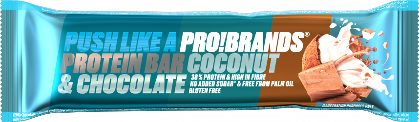 ProBrands Protein Bar 38% Coconut & Chocolate