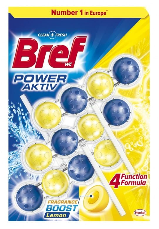 Bref Power Active Lemon WC blok 3x50g