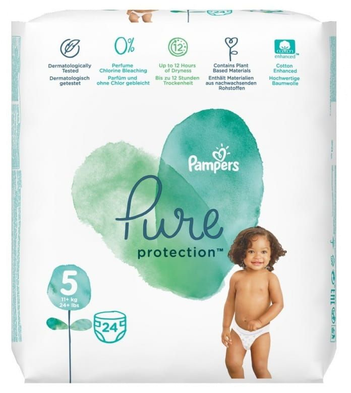 Pampers Pure Protection Velikost 5 (11-16 kg)