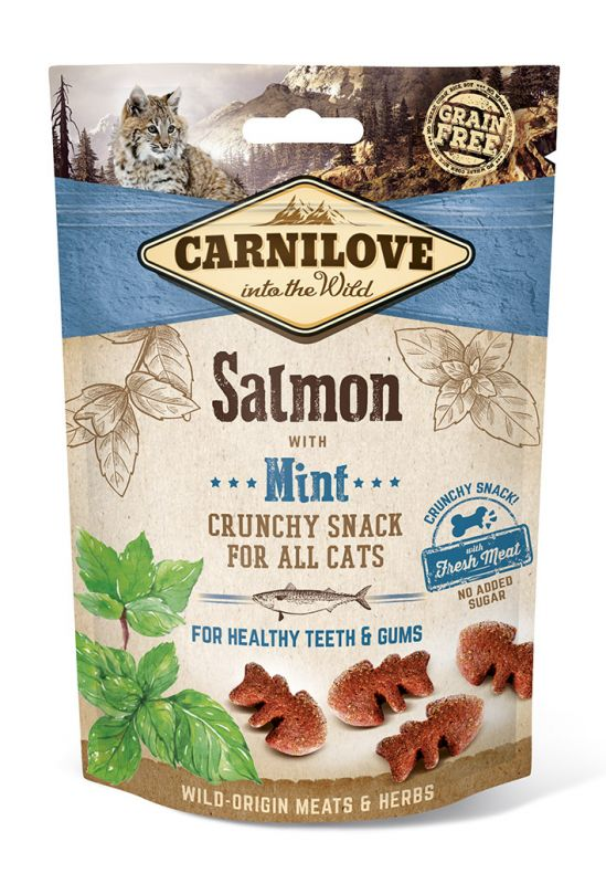 Carnilove Grain-Free Cat Crunchy Snack Salmon with Mint with fresh meat