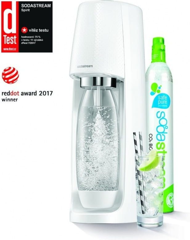 Sodastream Spirit White + Bombička CO2 + 1x lahev