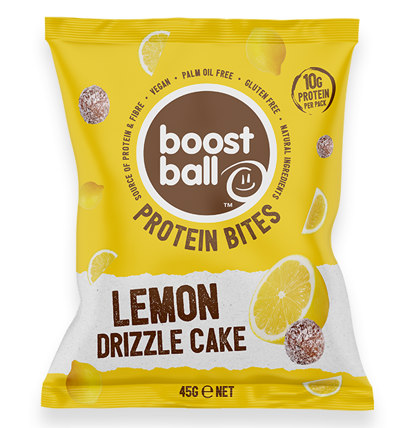 Boostball Boost Bites – Lemon Drizzle Cake