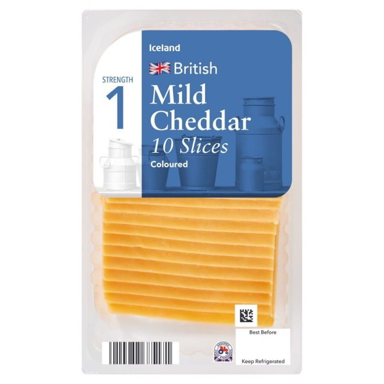 Iceland Mild Cheddar Coloured plátky