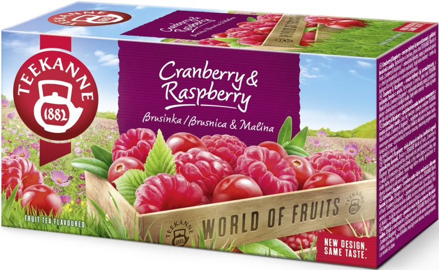 Teekanne World of Fruits Cranberry & Raspberry 45g