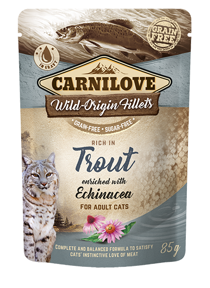 Carnilove Cat Pouch Rich in Trout Enriched with Echinacea