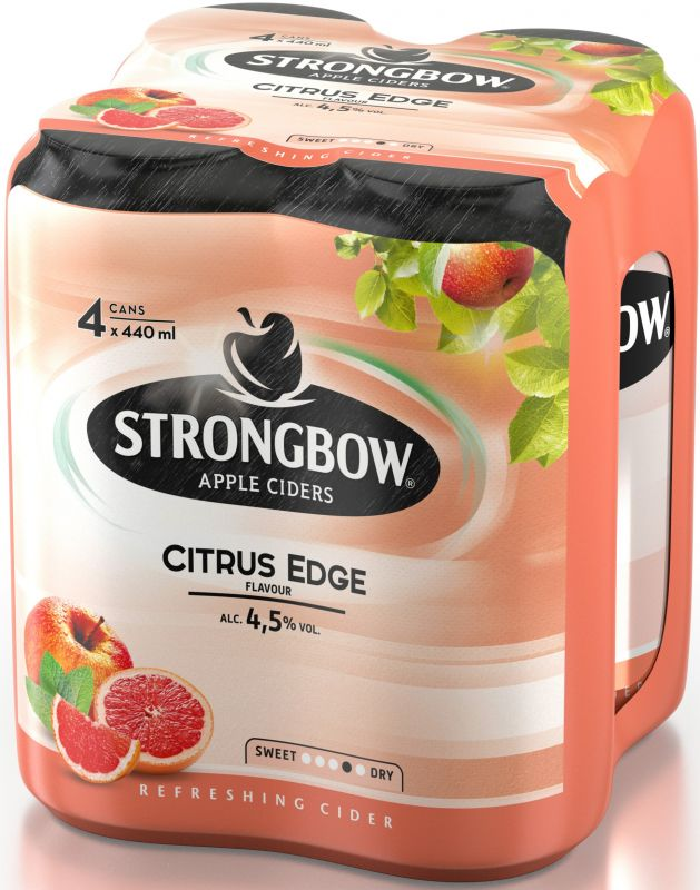 Strongbow Citrus Edge cider, plech multipack 4x440ml