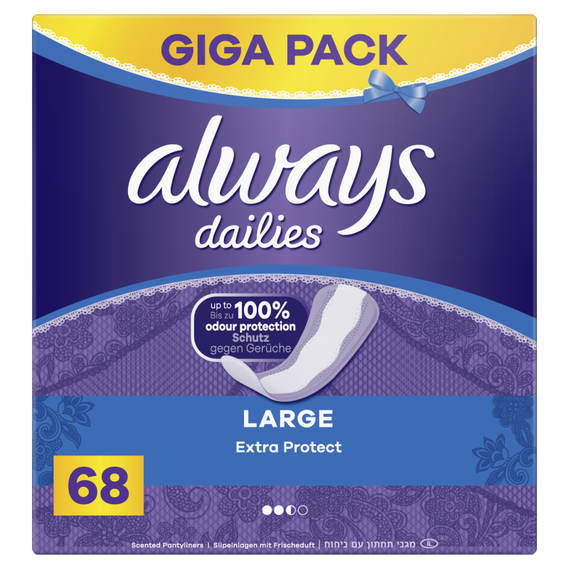 Always Dailies Extra Protect  intimky Large