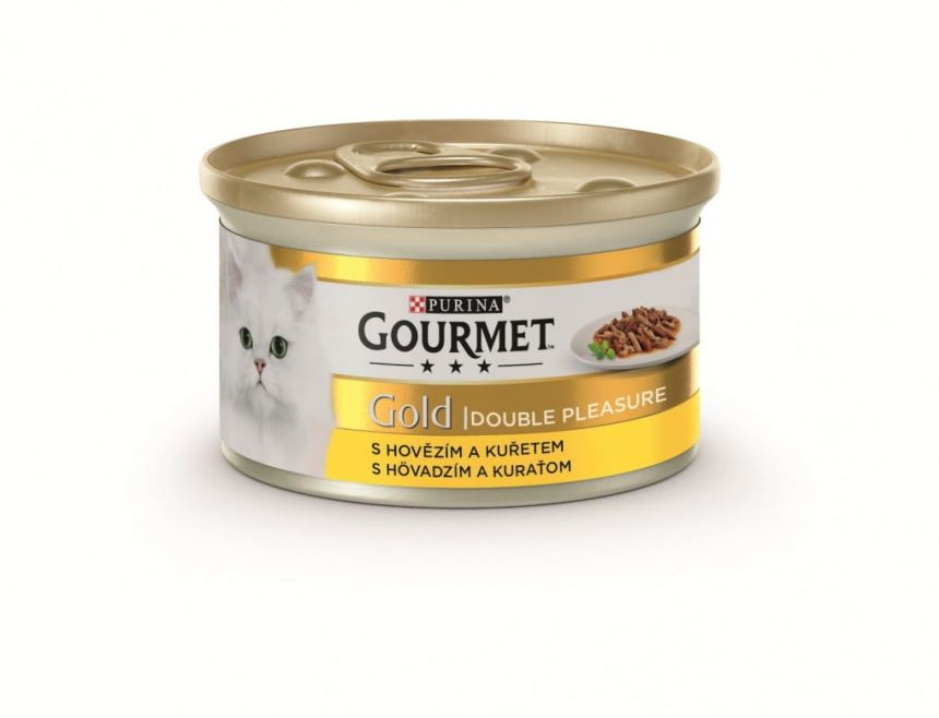 Gourmet gold duo Beef and Chicken
