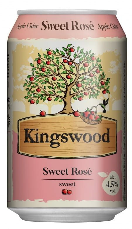 Kingswood Sweet Rosé 4,5%, plech