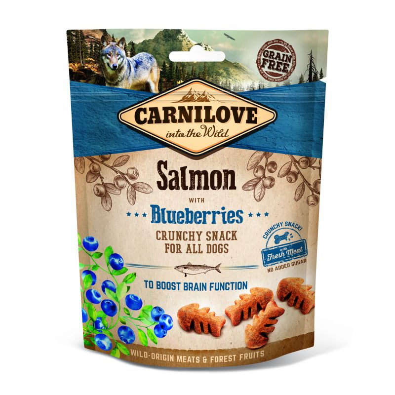 Carnilove Grain-Free Dog Crunchy Snack Salmon with Blueberries with fresh meat