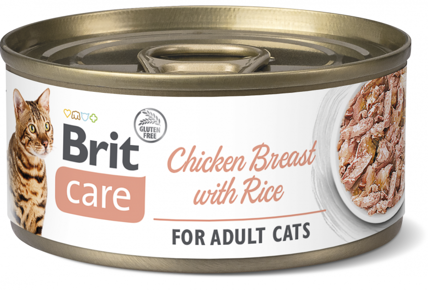 Brit Care Cat Chicken Breast with Rice, fillets