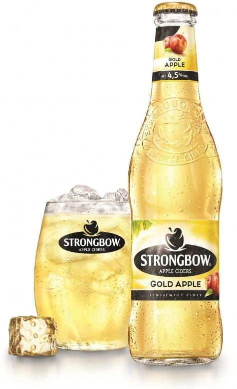 Strongbow Gold Apple. sklo