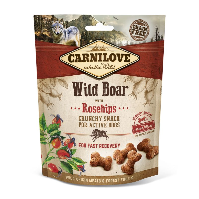 Carnilove Grain-Free Dog Crunchy Snack Wild Boar with Rosehips with fresh meat