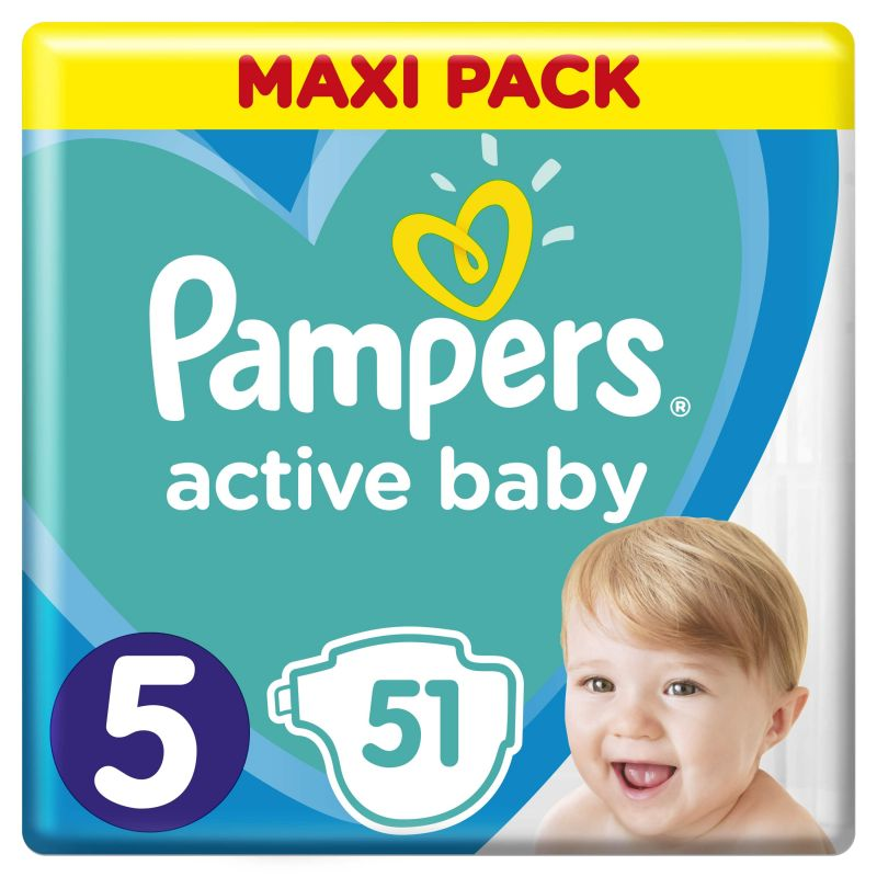 Pampers Active Baby Maxi Pack velikost 5 (11-16kg)