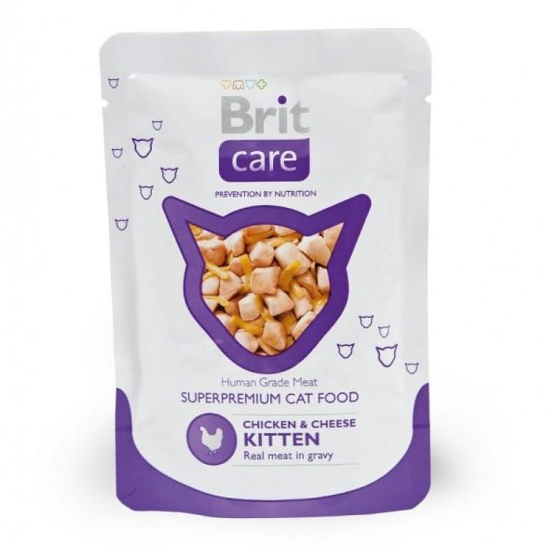 Brit Care Cat Chicken & Cheese Pouch kapsička