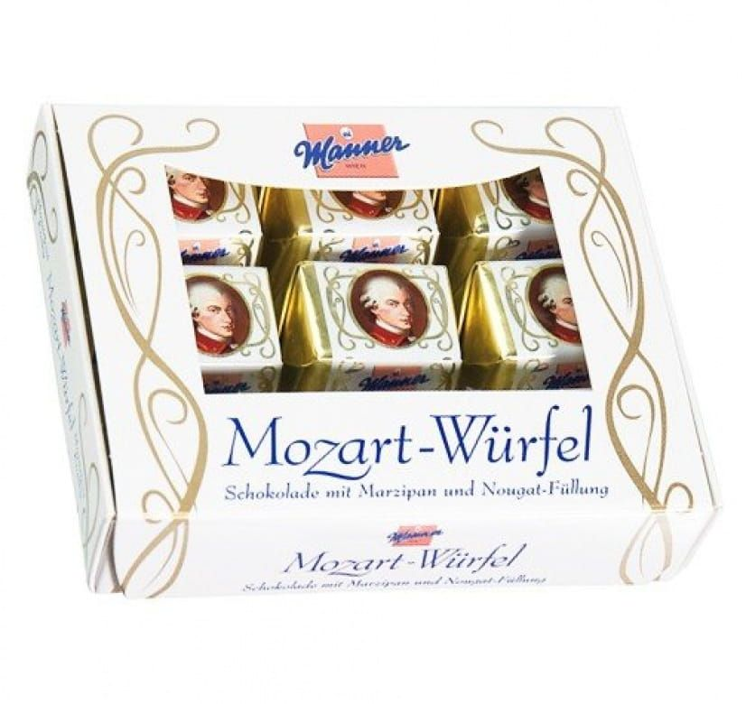 Manner Mozart Würfel bonboniera