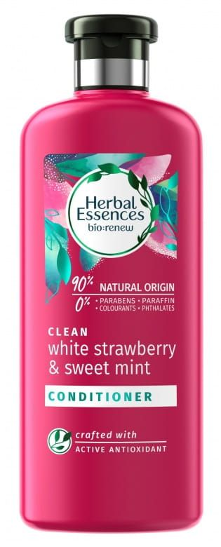 Herbal Essences Kondicionér 90% Natural Origin White Strawberry & Sweet Mint