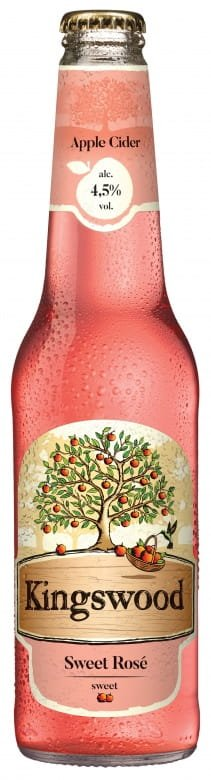 Kingswood Rosé Apple. sklo