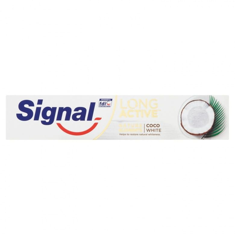 Signal Long Active Nature Elements Coco White zubní pasta