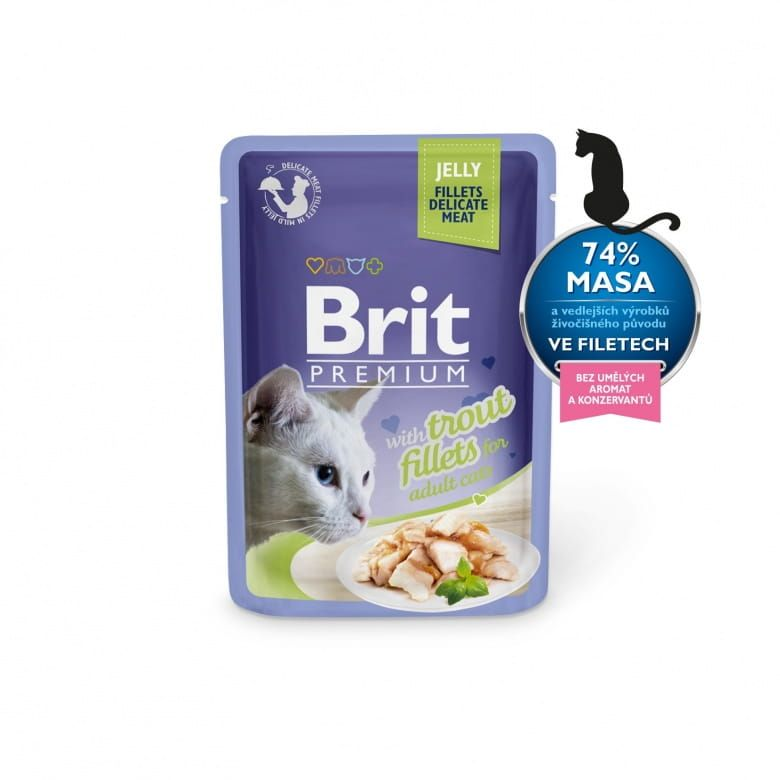 Brit Premium Cat Delicate Fillets in Jelly with Trout
