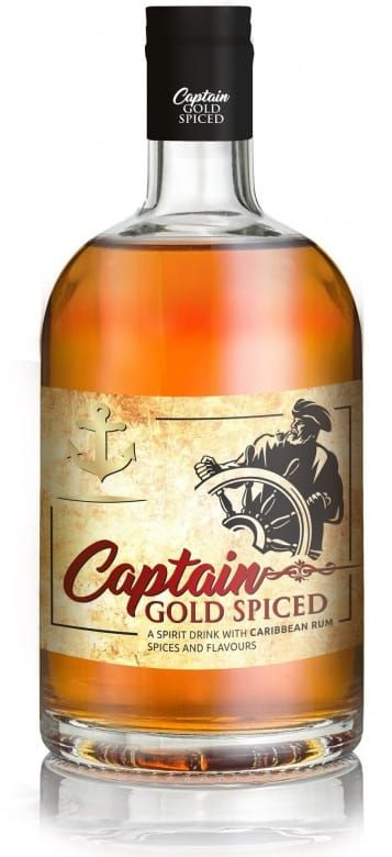 Captain Spiced Gold Rum (35%)