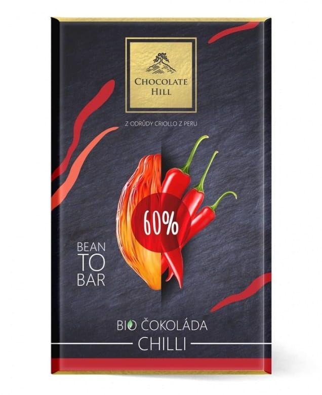 Chocolate Hill Bean To Bar 60% Čokoláda s chilli BIO