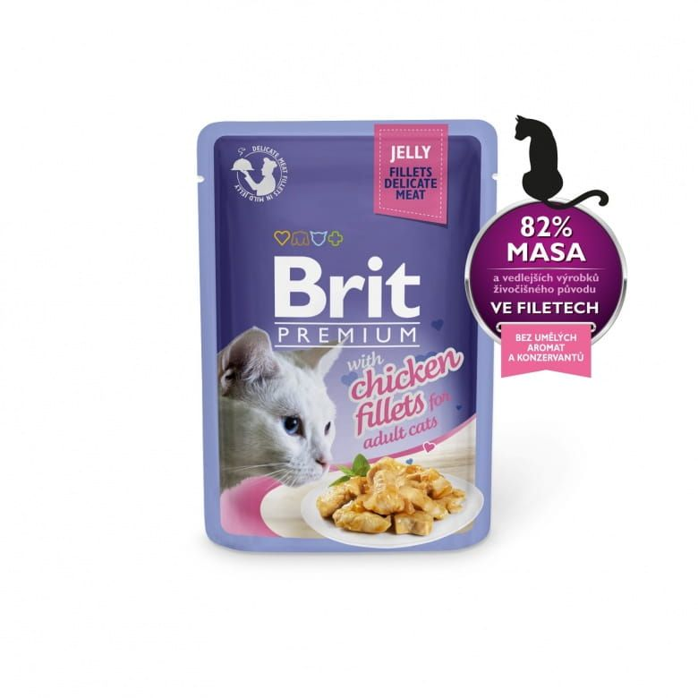 Brit Premium Cat Delicate Fillets in Jelly with Chicken