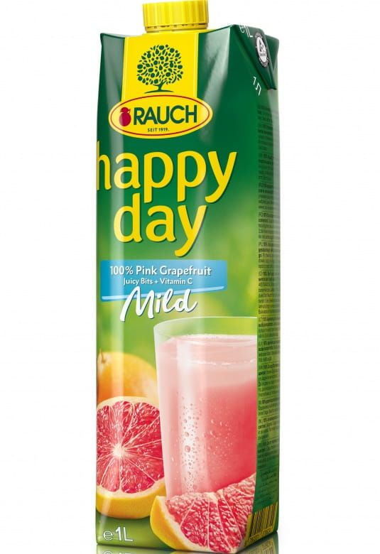 Rauch Happy Day Růžový grapefruit s dužninou Mild 100%