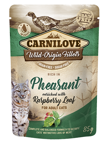 Carnilove Cat Pouch Rich in Pheasant Enriched with Raspberry Leaves