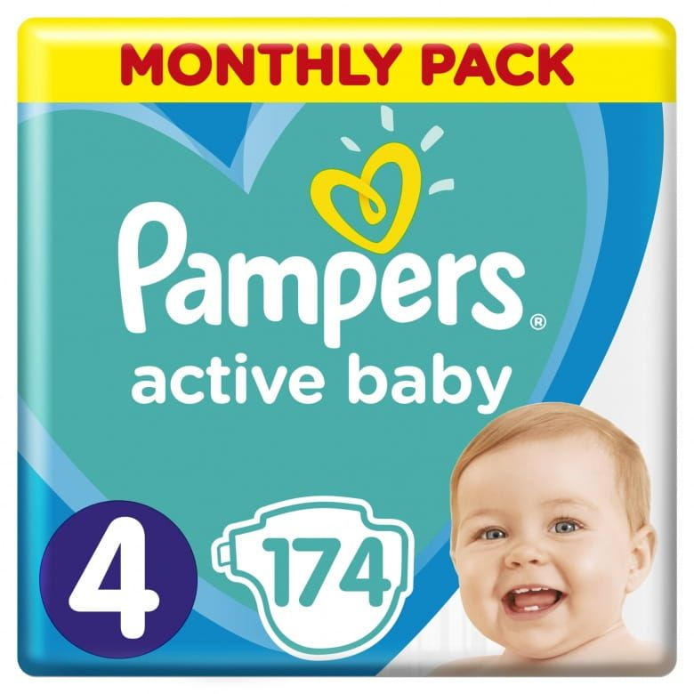 Pampers Active Baby Velikost 4 (9-14kg)