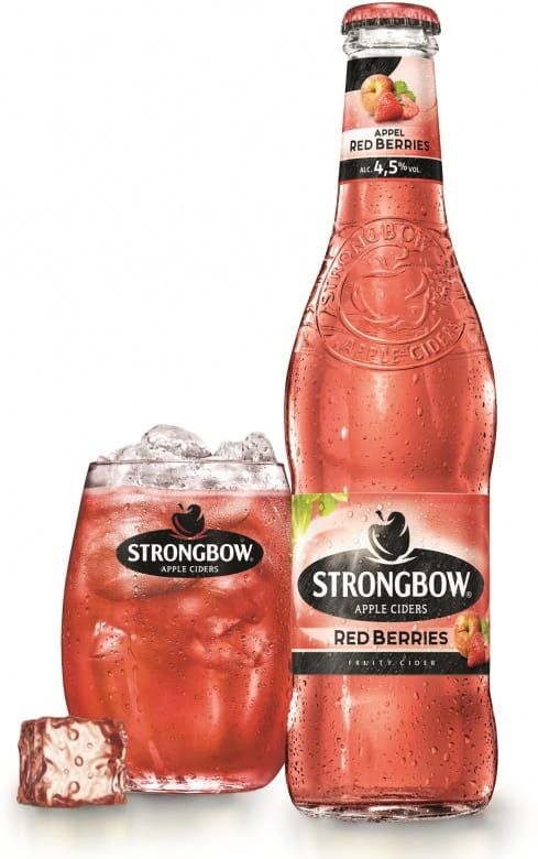 Strongbow Red Berries. sklo
