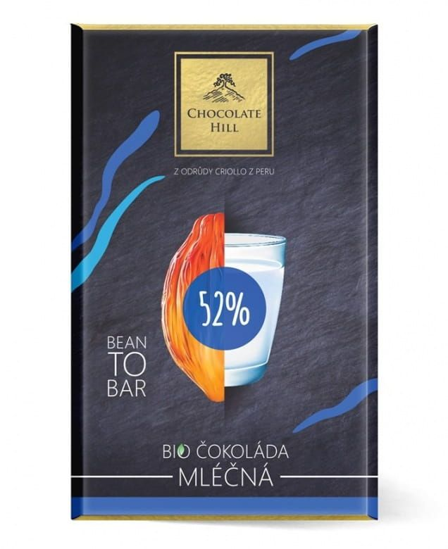 Chocolate Hill Bean To Bar 52% Mléčná čokoláda BIO