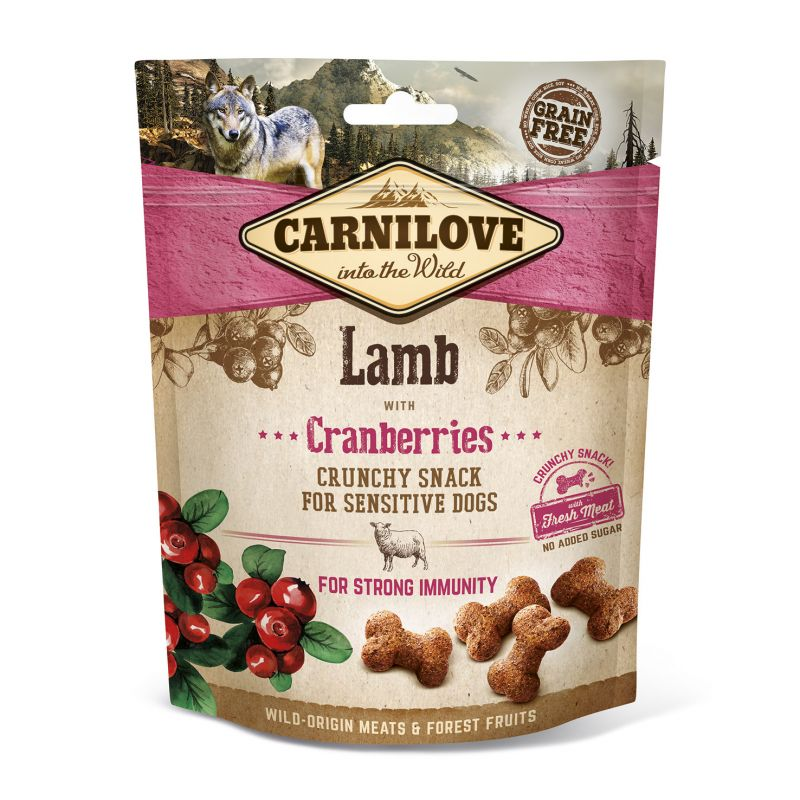 Carnilove Grain-Free Dog Crunchy Snack Lamb with Cranberries with fresh meat