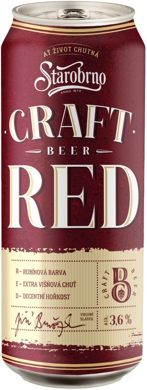 Starobrno Craft Red, plech